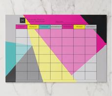 Modern Geo Colors Monthly Calendar Paper Pad