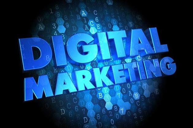 digital marketing blue image