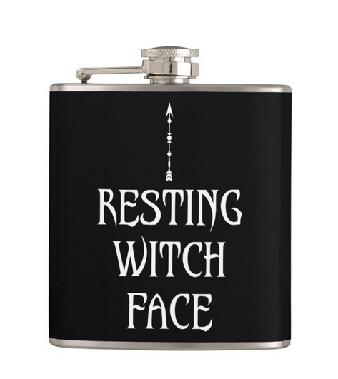 Resting Witch Face Flask