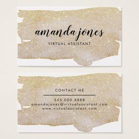 Gold Glitter Business Card