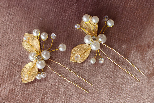 LIA GOLDEN BRIDAL HAIR PINS