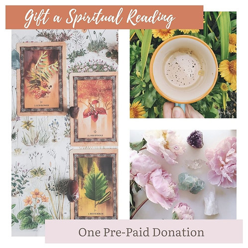 Gift a Spiritual Reading - Holiday / Gift Voucher for 1 Spiritual Reading