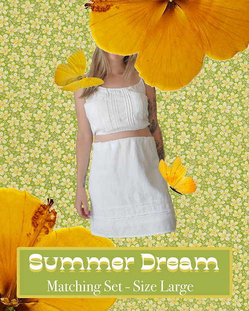Summer Dream - Matching, Upcycled, and Handmade Clothing Set
