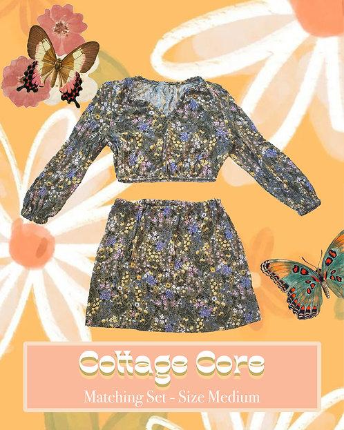 Cottage Core - Matching, Upcycled, and Handmade Clothing Set
