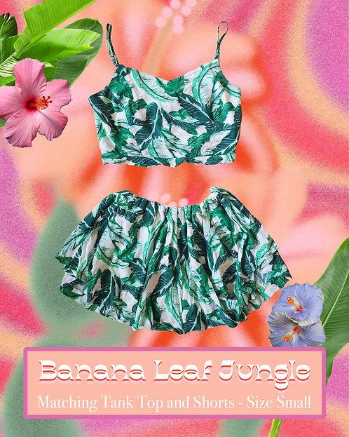 Banana Leaf Jungle - Matching, Upcycled, and Handmade Clothing Set