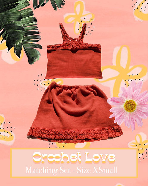 Crochet Love - Matching, Upcycled, and Handmade Clothing Set