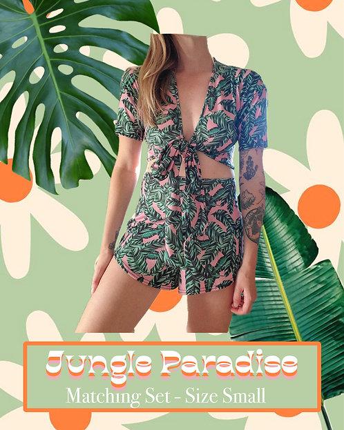 Jungle Paradise - Matching, Upcycled, and Handmade Clothing Set