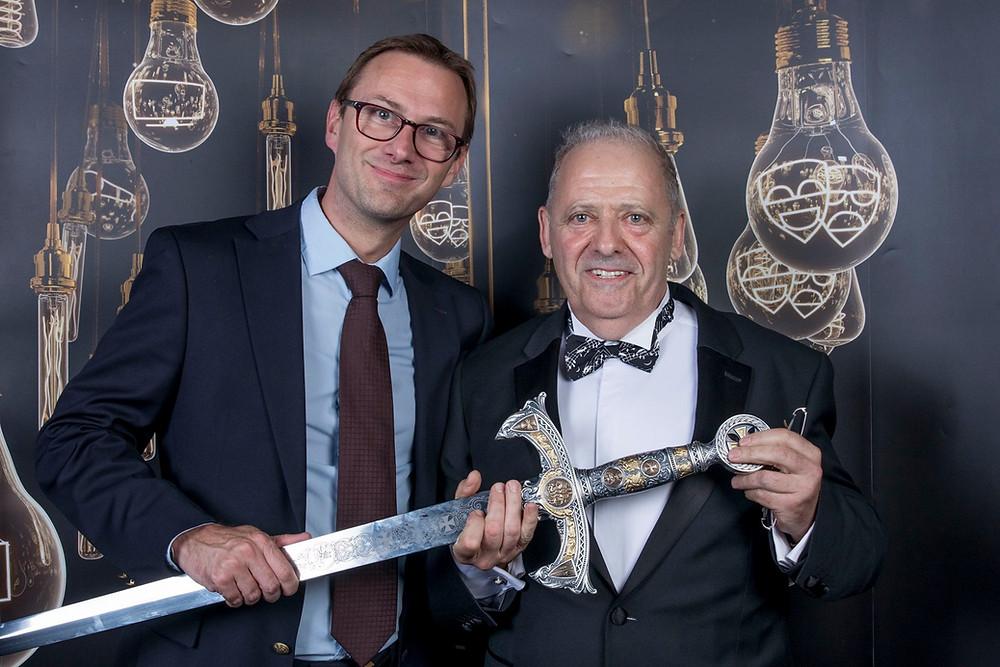 RJ代表取締役フランソワ・ジュリアとKOI賞オペラ部門を受賞したMarc Jonathan