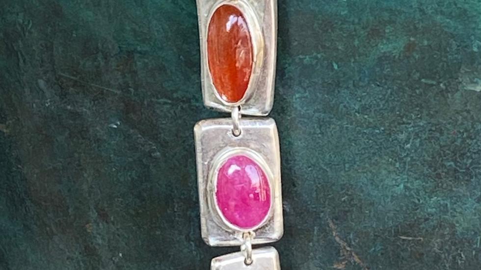 Triple Multi Stone Necklace