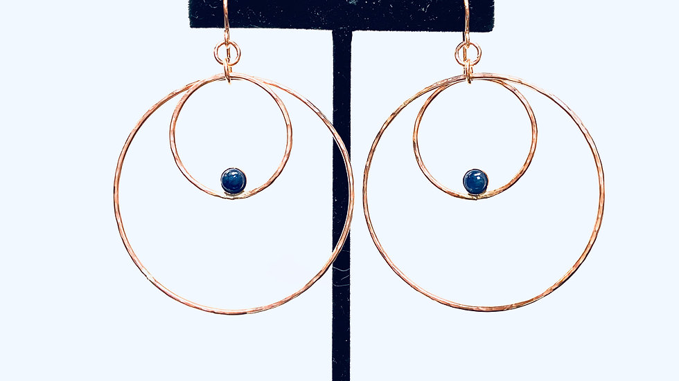 Sapphire Earrings in Gold