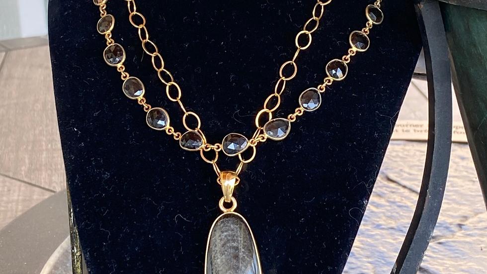 Silver Sheen Obsidian Necklace