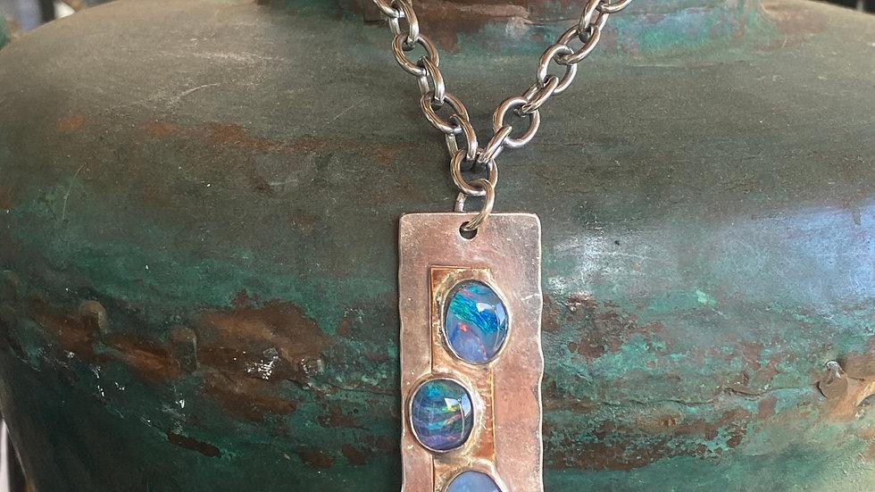 Triple Opal Necklace