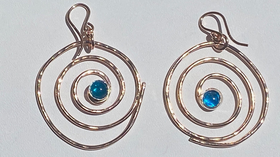 Rose Gold and Apatite Earrings