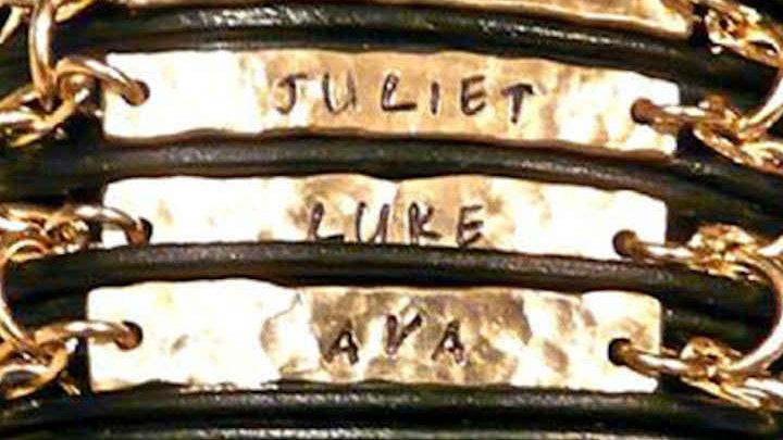 Hand Stamped Customized Cuff