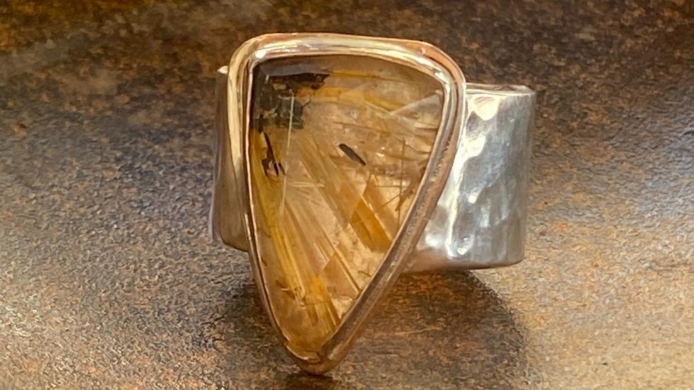 Stunning Rutilated Quartz Ring