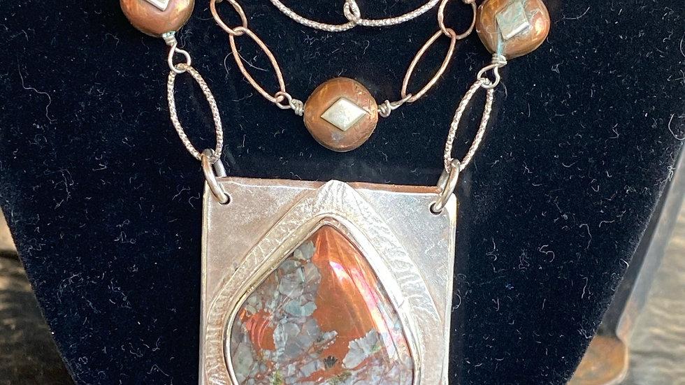 Quartz in Copper Necklace