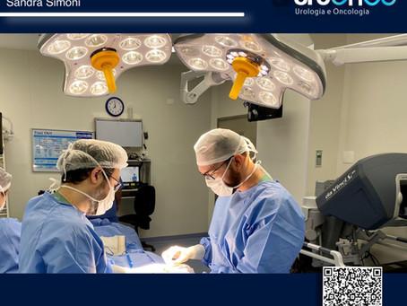 Preparação da equipe para a cirurgia Robótica da próstata