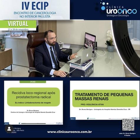 IV ECIP - Congresso de Urologia e Oncolgia - 11/20