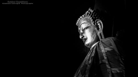 Statue de Bouddha. Gyantsé, Tibet