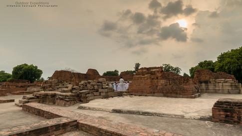 Lieu du premier sermon de Bouddha. Sarnath, Inde.