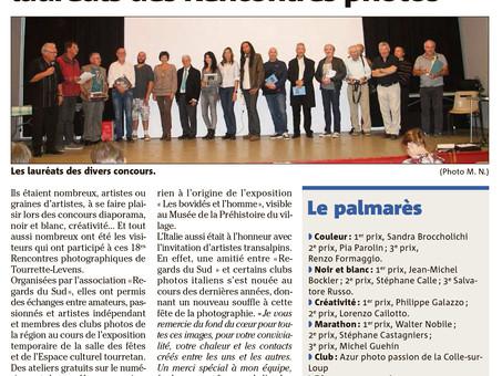 2ème prix du marathon des 18ième rencontres photographiques Regards Sud Tourrette-Levens