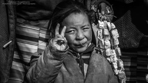 Jeune nomade Tibétaine. Tibet