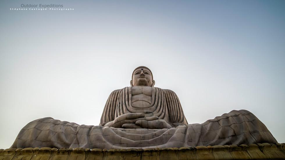 Grande statue de Bouddha. Bodhgaya, Inde