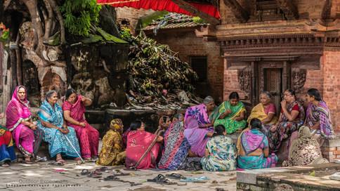 Femmes Népalaises. Katmandou, Népal