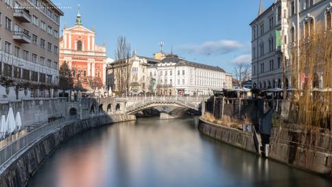 Tromostovje. Ljubljana, Slovenie