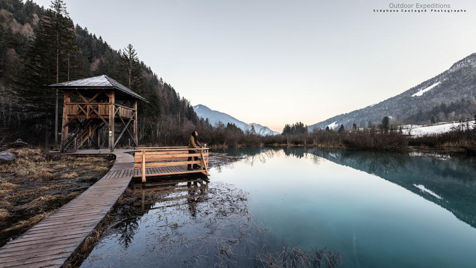 Le lac de Zelenci, Slovénie