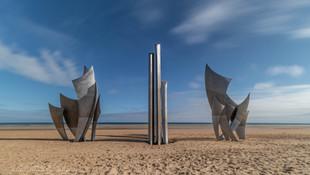 Omaha beach, Normandie, France