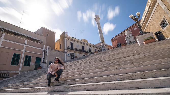 Les colonnes romaines. Brindisi, Italie