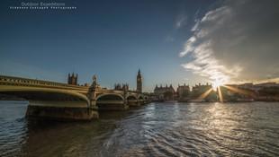 Big ben et la Tamise. Londres. Angleterre.