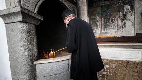 [APOCALYPSE 1:9 | La Révelation] Prêtre chrétien orthodoxe. Ile de Patmos, Grèce