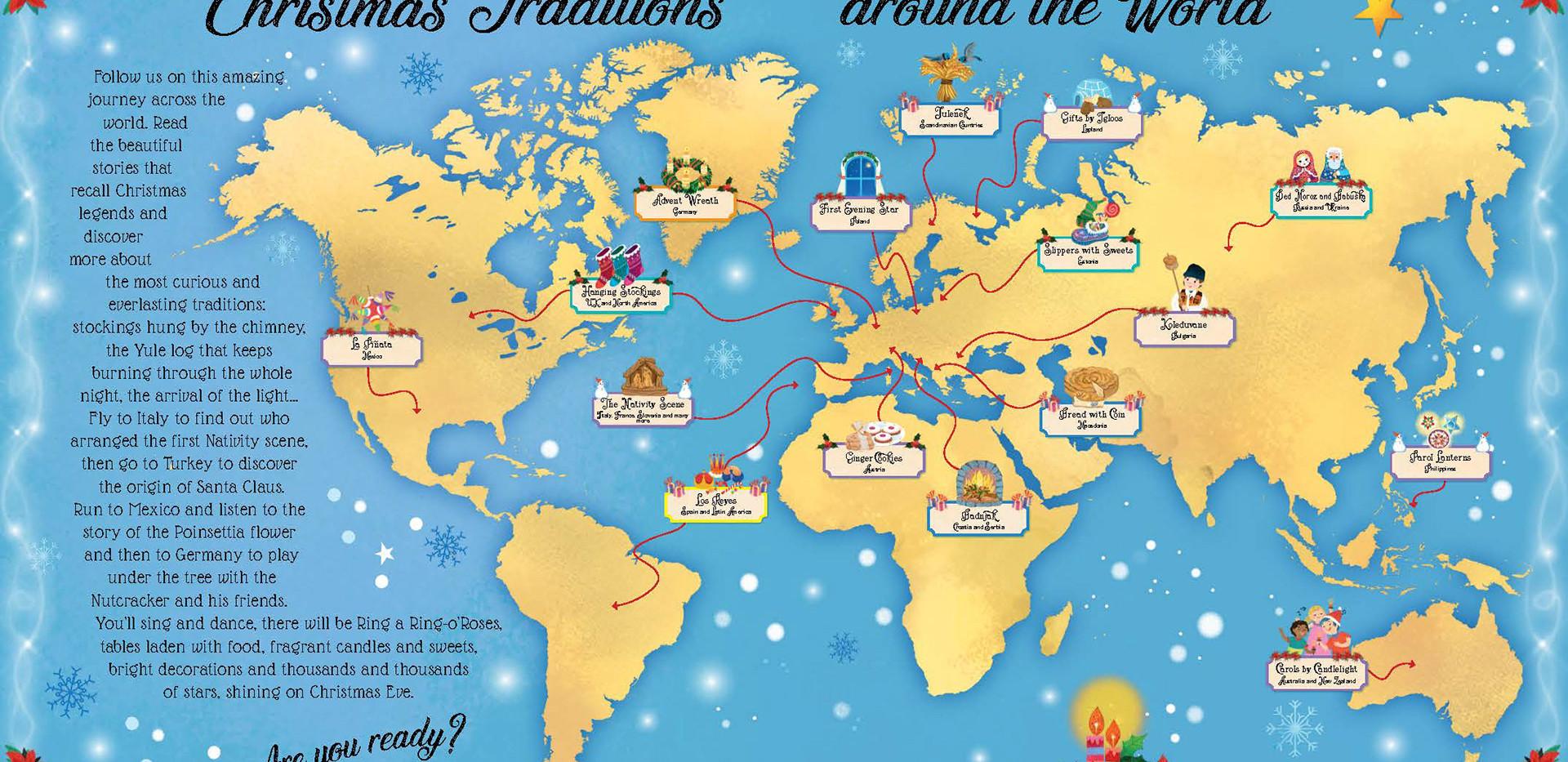 Internal Map od Christmas traditions around the World