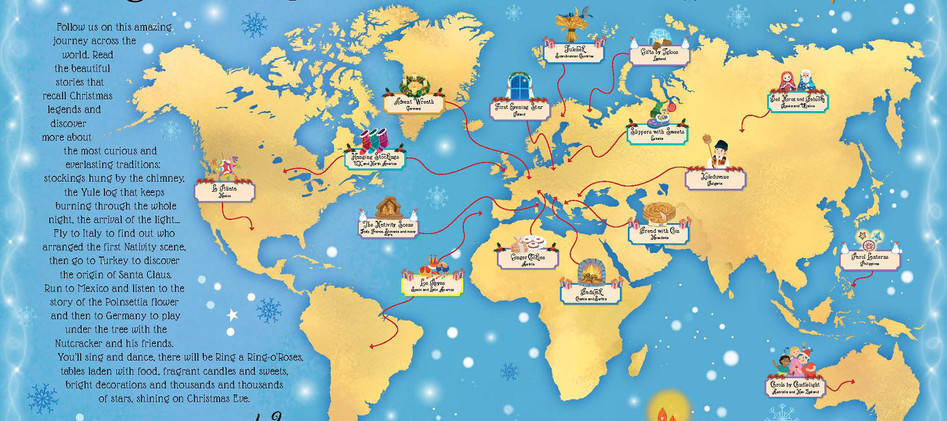 Internal Map od Christmas traditions around the World