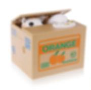 orange cat money box