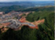 Dominican Republic open cast gold mine.J