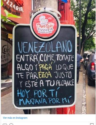 Esta fue la idea de una pizzería argentina para ayudar a los venezolanos