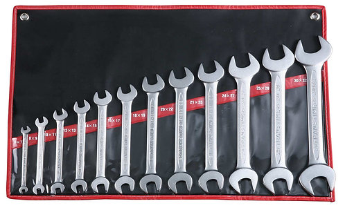 DOUBLE OPEN END WRENCH SET DIN 3110