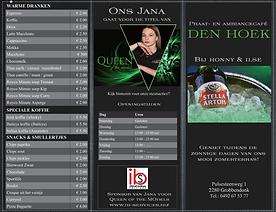 IBS - Drankenkaart buitenzijde Café Den Hoeken
