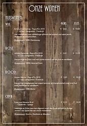 Wijnkaart Brasserie Palux