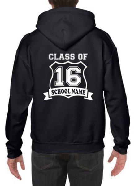 School Leavers Children's Kids 2018 names printed personalised year hoodie