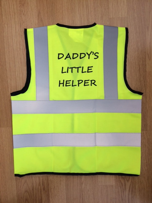 Junior High-Vis Vest Daddy's Little Helper