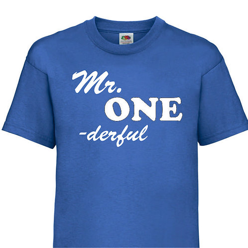Mr. One - derful / Miss. One - derful T Shirt for that special one year old
