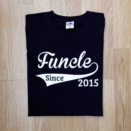 Funcle Since year of choice Men's t shirt perfect gift for a fun uncle