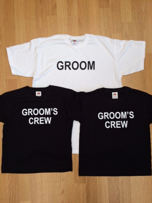 Groom or Groom's Crew Stag Party T Shirt