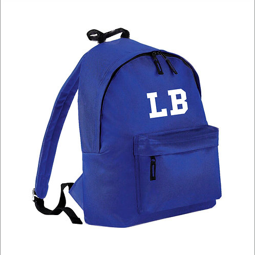 Junior Fashion Backpack / rucksack personalised with initials