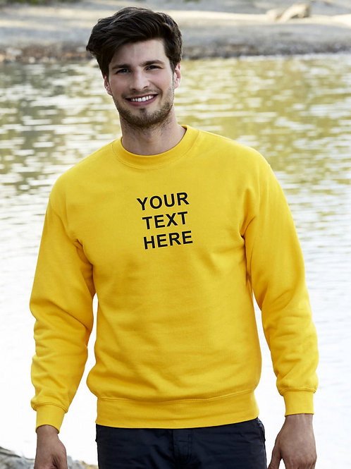 Adult set in sweatshirt plain or personalise with print