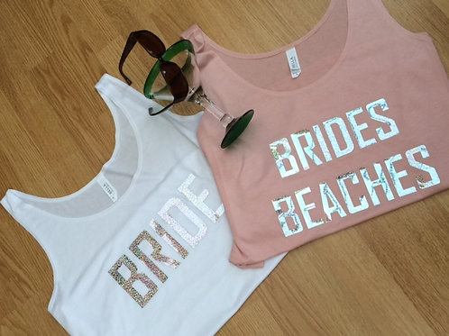 Simply stunning women's flowy side slit vest hen party BRIDES BEACHES